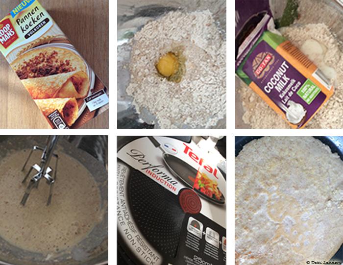Collage recept pannenkoeken