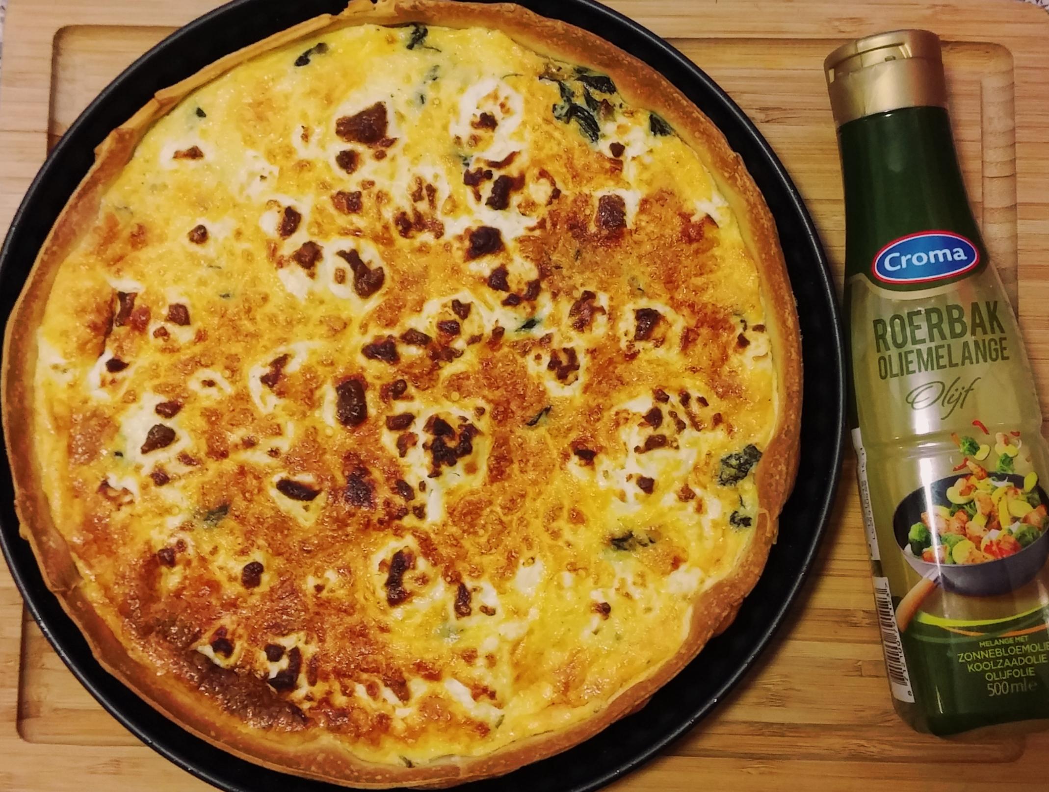 Quiche met spinazie en geitenkaas - Deco voorgerecht ...