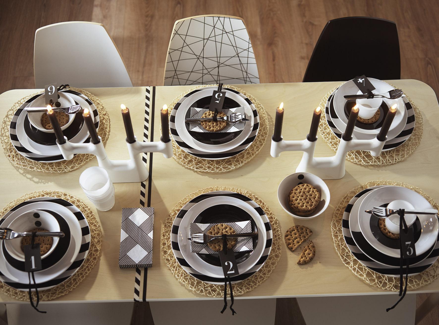 Zwart Wit Servies Ikea.Stijlvol Dineren Met Ikea Passievrouwen Com Lifestyle
