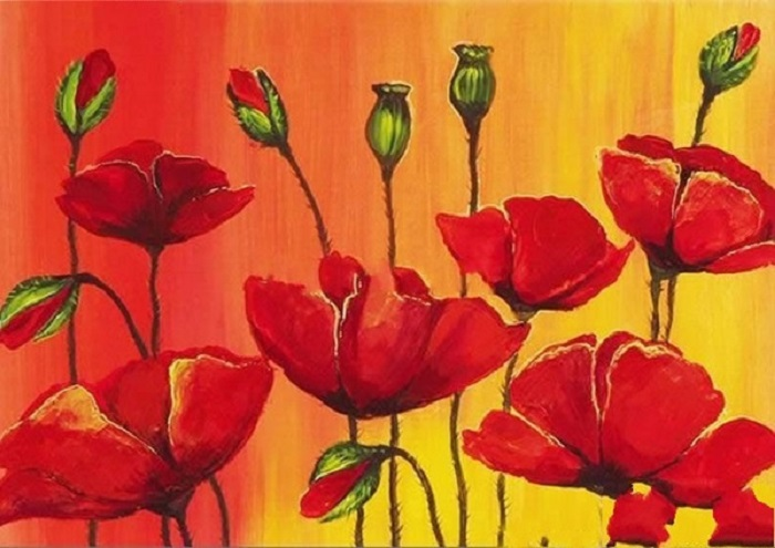 Kunst in je huis lifestyle for Schilderijen van bloemen