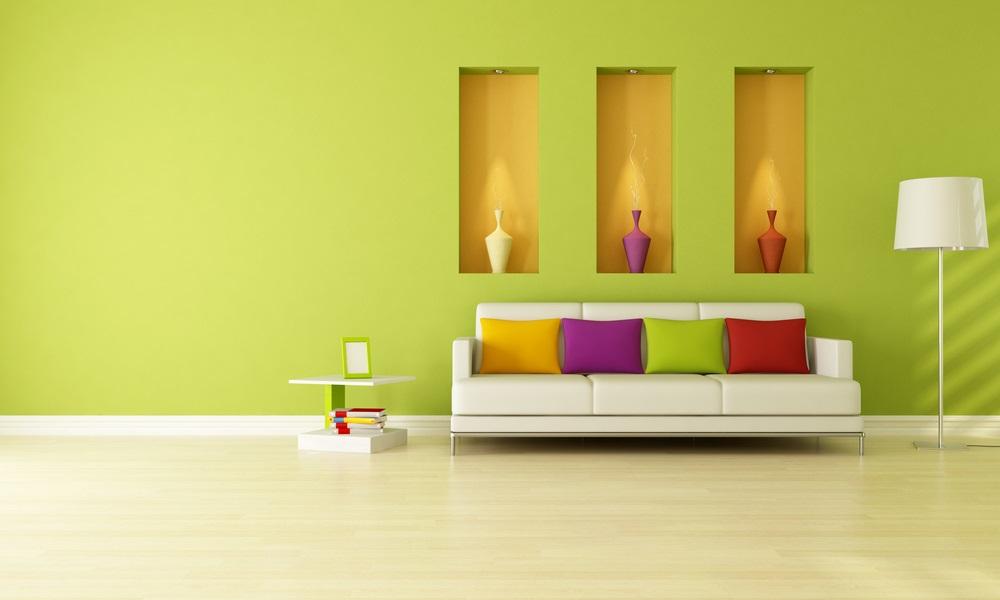 Opvallende kleuren gebruiken voor de muren alinea