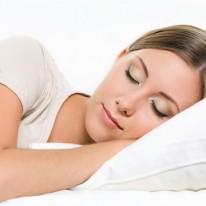 woman sleeps on the sofa